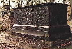 The cast-iron TOMB of Prince John Maurice of  Nassau-Siegen at  Bergenthal in the  